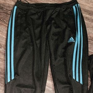 Blue adidas joggers